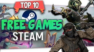 "👨‍👦‍👦 👨‍👧‍👧  Top Ten ""Most Popular Free Games On Steam"" Winter 2019 