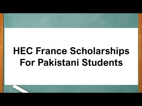 HEC France Scholarships For Pakistani Students