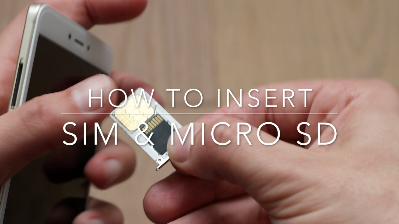 How To Insert Sim And Micro Sd Card In A Xiaomi Redmi Note 4x