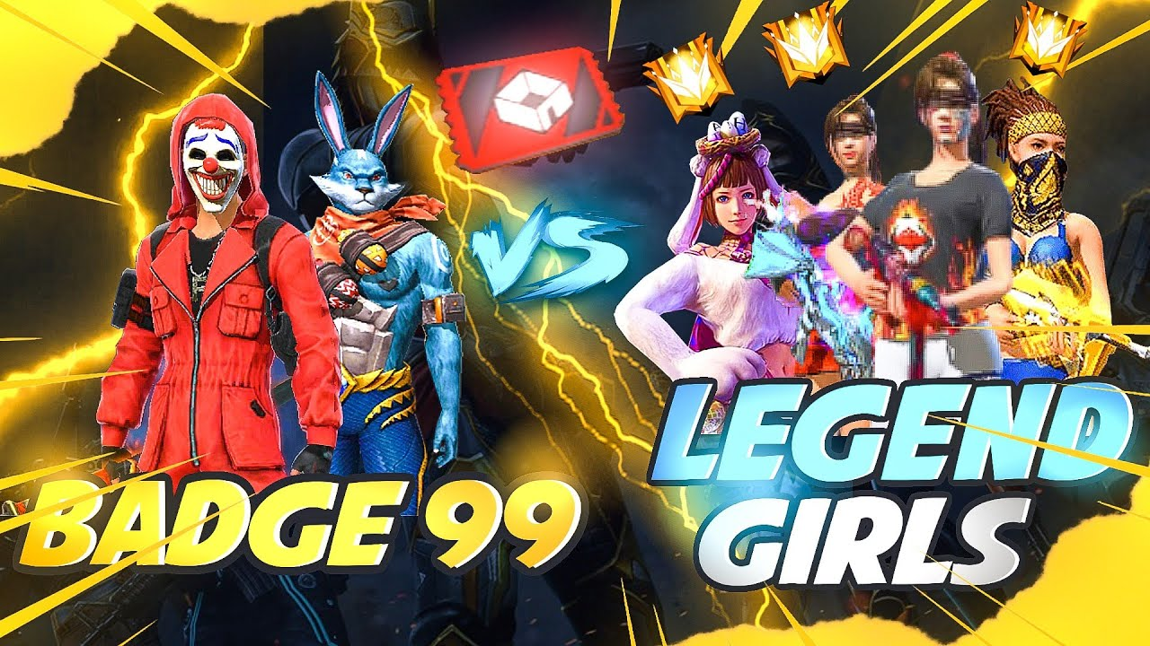 Badge99 vs Super Pro Girls😍🔥 Red Custom Match Must Watch - Garena Free Fire