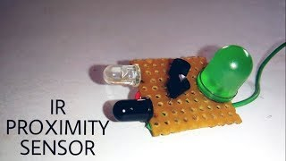 How to make infrared proximity sensors | without IC using only transistor.