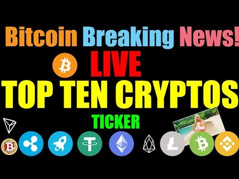 Bitcoin LIVE | 24/7 BITCOIN PRICE INDEX - STREAMING - TOP TEN CRYPTOS LIVE #Bitcoin Ticker