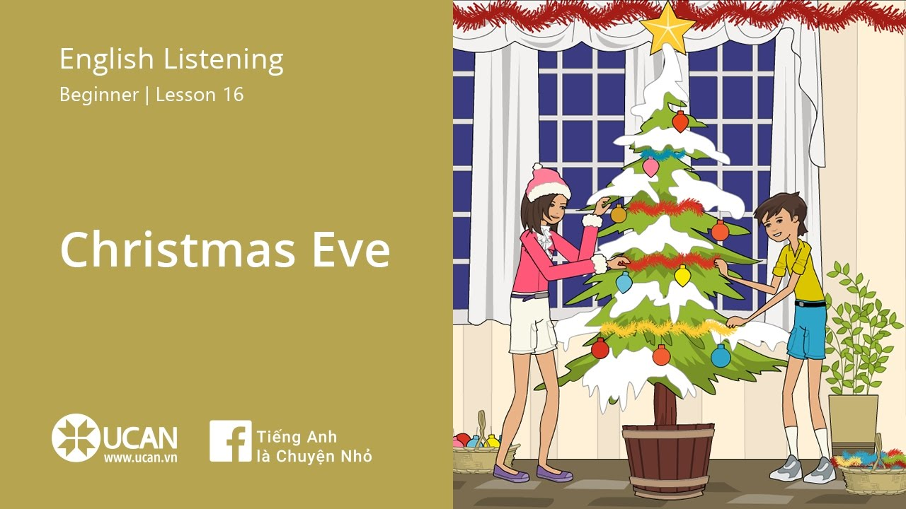 Learn English Listening  Beginner  Lesson 16 Christmas Eve