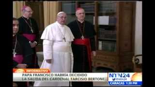 Papa Francisco habría decidido la salida del cardenal Tarcisio Bertone