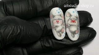 Художественная роспись на ногтях - мастер класс Зайка