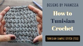 How to Crochet the Tunisian Simple Stitch (TSS)