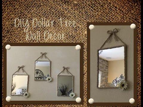 Diy Dollar Tree Wall Decor Youtube
