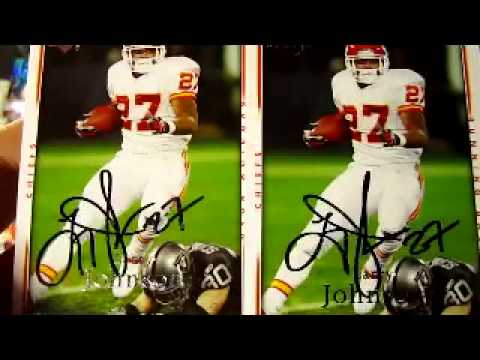 TTM Autograph Return -Larry Johnson Kansas City Chiefs Great