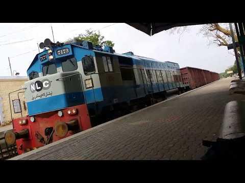 NLC Diesel Engine Goods Train . Pakistan Railway