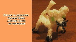 Кошка из резиночек. Лучший видео мастер-класс по плетению