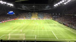 Астана - Апоел 1-0 / волна от болельщиков Астаны
