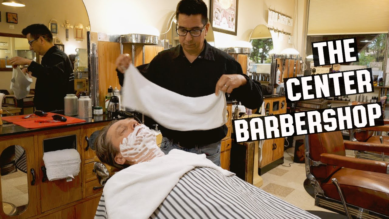 💈 Classic Hot Lather Shave at Santa Fe's Oldest Traditional Barbershop | The Center Barbershop