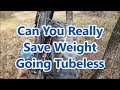 Can You Really Save Weight Going Tubeless On A Fat Bike ?