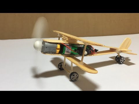 How to Make A Plane With DC Motor - Toy Wooden Plane DIY - Make a Mini Plane  at home very easy