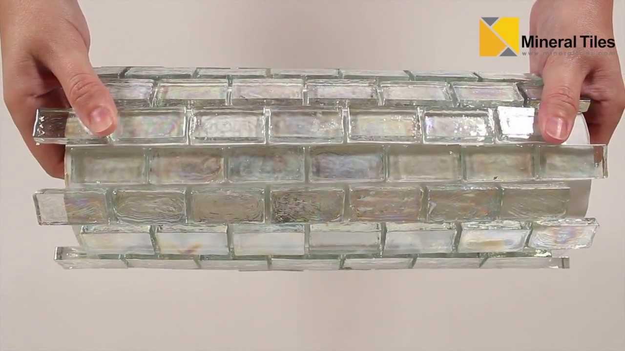 - Iridescent Pool Glass Tile Clear 1x2 - 120KELUGG21201 - YouTube