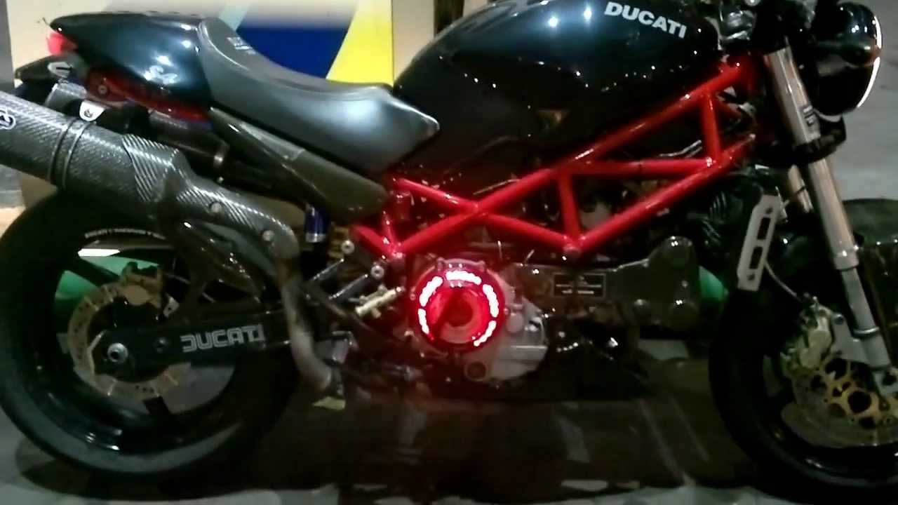 Ducati Monster 821 >> DUCATI S4 dry clutch with light.mp4 - YouTube