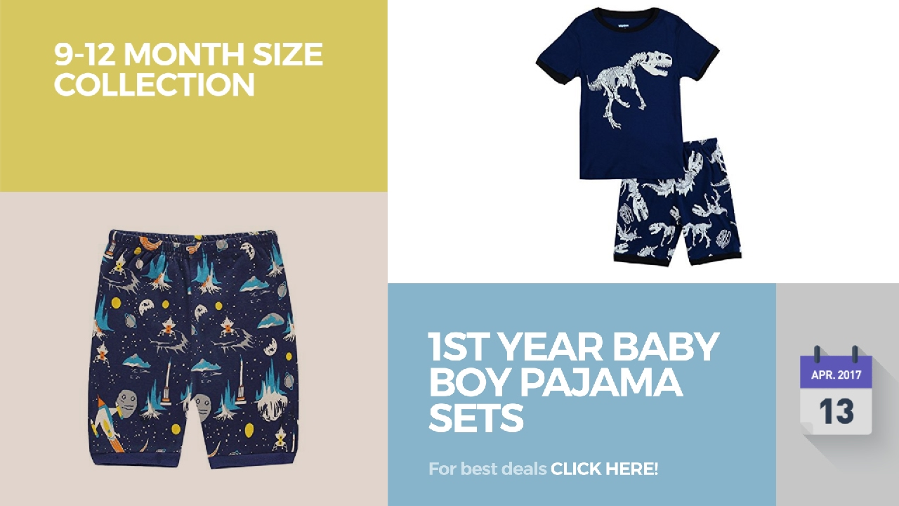 dbc1f2395 1St Year Baby Boy Pajama Sets 9-12 Month Size Collection - YouTube