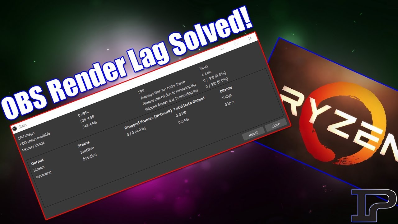 OBS Render Lag Issues Solved! (Ryzen Streaming Issues)