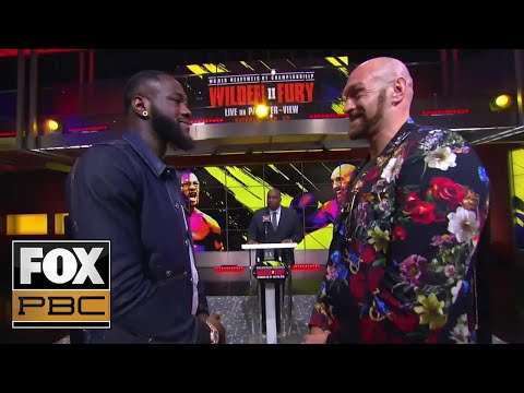 Wilder Vs. Fury II: Two Heavyweights Talk Trash, Go Face To Face   PRESS CONFERENCE   PBC ON FOX