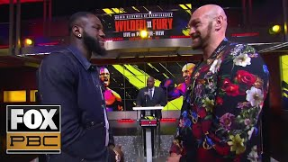 wilder-vs-fury-ii-two-heavyweights-talk-trash-go-face-to-face-press-conference-pbc-on-fox