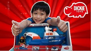 Dickie Toys Explorer Boat and Submarine Toy for Kids