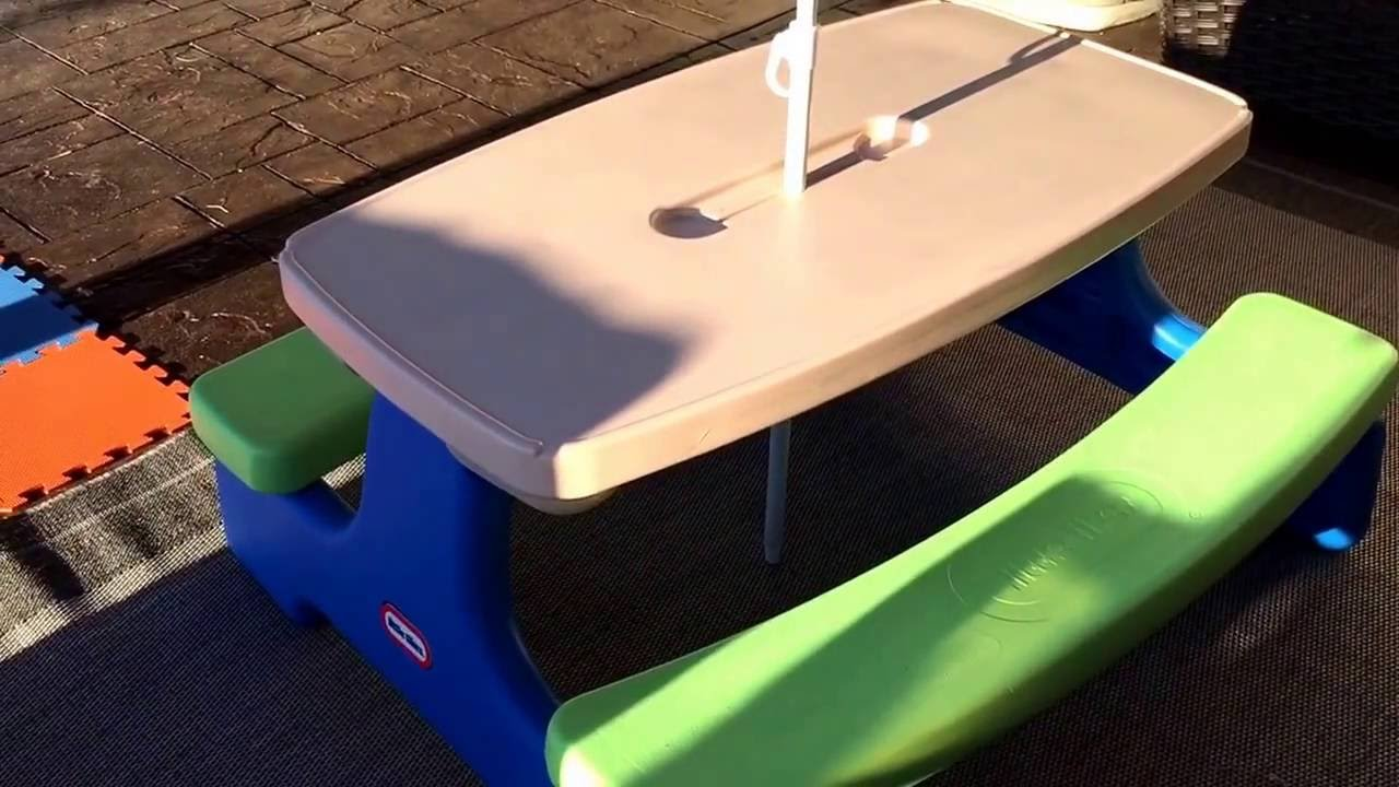 Little tikes fold store picnic table review youtube little tikes fold store picnic table review watchthetrailerfo
