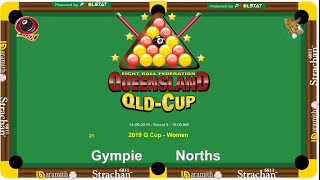 2019 Q-Cup Mens Womens  8 Ball Teams - Prelim Finals
