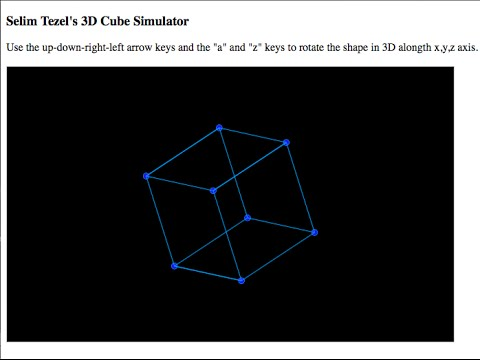 Javascript: 3D Cube Animation