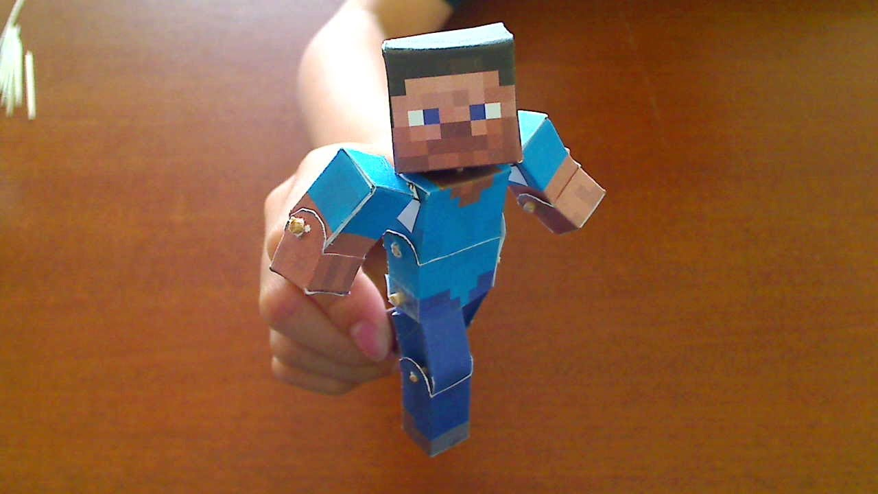 Papercraft How to make a Minecraft Papercraft Bendable Steve