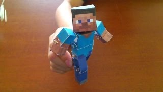 Repeat youtube video How to make a Minecraft Papercraft Bendable Steve