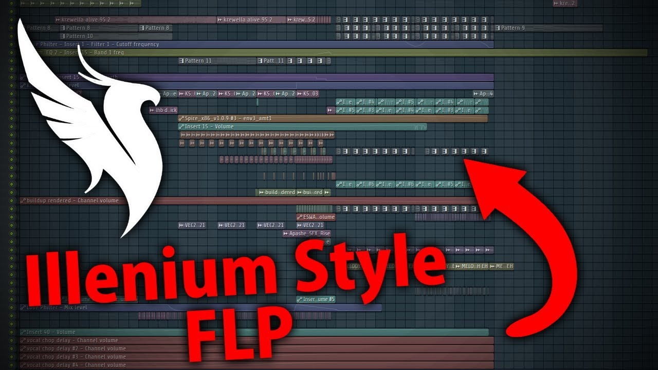 Illenium Style - FL Studio Project   Free FLP & Presets (song starts at  1:57)