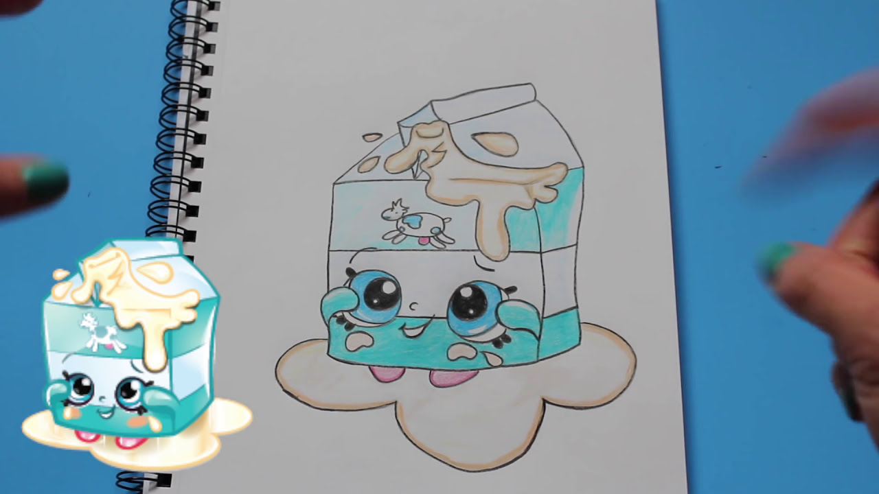 Shopkins coloring pages spilled milk - How To Draw Shopkins Season 1 Spilt Milk Step By Step Easy Toy Caboodle