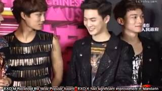 [Eng Sub]130414 EXO on Sohu News for 13th Music Awards