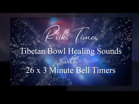 Reiki 3 Minute Timer With Tibetan Bowl Healing Sounds And 26 X 3 Bell Timers