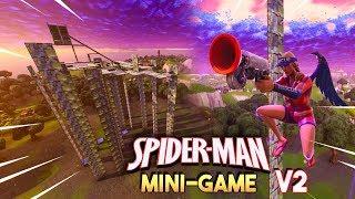 1v1v1v1 SPIDER-MAN MINIGAME V2!! - Fortnite Playground (Nederlands)