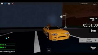 "Roblox SRU ""The Reborn"" Brian O' Conner's Toyota Supra Mk4. (My version of it)"