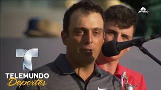 Molinari recibe trofeo Open Británico | Telemundo Deportes | Telemundo Deportes