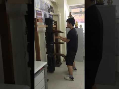 Children Wing Chun - Othniel Leung 梁沐君 age 12 - 1st time Wooden Dummy on Sept 14, 2016