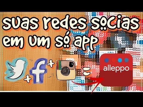 Facebook, twitter e instagram em 1 unico aplicativo   (ALLEPPO) gerenciador de redes sociais