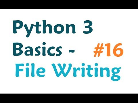 Python 3 Programming Tutorial - Writing to File