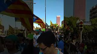 14 Julio, manifestación en Barcelona por la libertad de los presos políticos