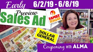 EARLY 6/2/19 Dollar General & Family Dollar Sales Ad Preview