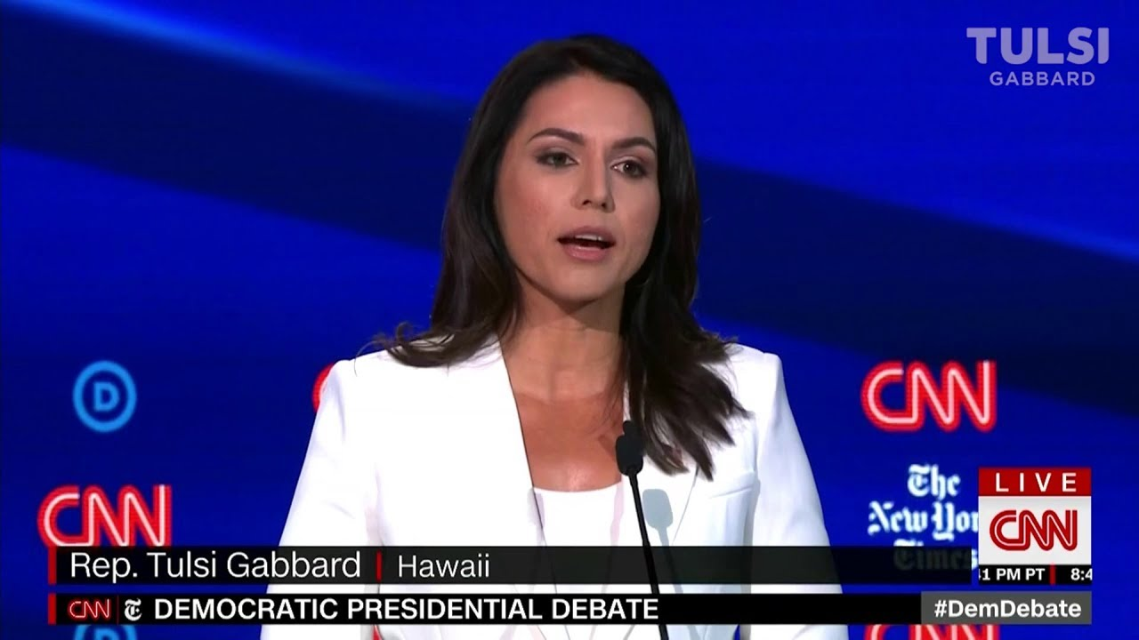 Watch the 6 minutes that has America searching Tulsi Gabbard