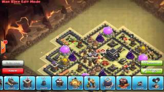 Clash of Clans: War Base TH9 Anti Balloons+Lava Hounds,Dragons,Hog riders Anti 3star