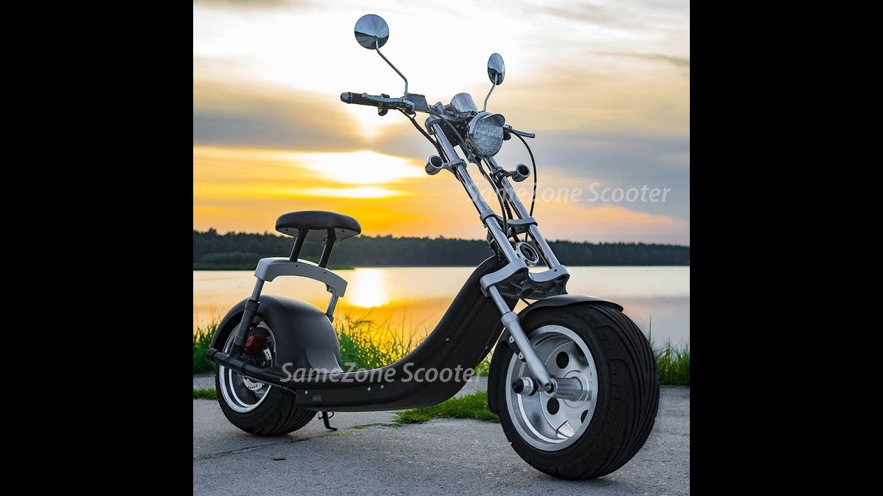 Low Ride High End Fat Tire Harley Electric Scooter