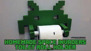 Homemade Space Invaders Toilet Roll Holder