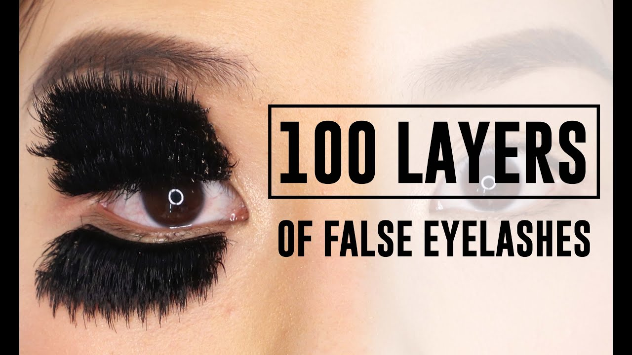 100 Layers Of False Eyelashes Wtf Tina Tries It Youtube