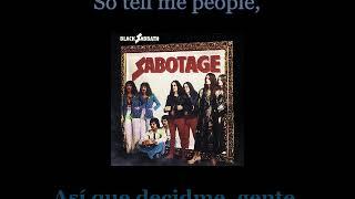 Black Sabbath - Am I Going Insane (Radio) - 07 - Lyrics / Subtitulos en español (Nwobhm) Traducida