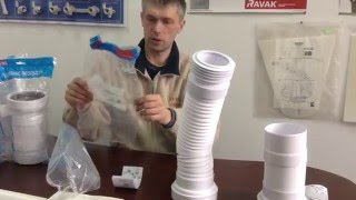 видео Гофра для унитаза: сифон и размеры, установка гофрированного слива, как правильно одеть короткую трубу
