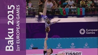 Mixed Pair All-Around | Acrobatic Gymnastics | Baku 2015 European Games